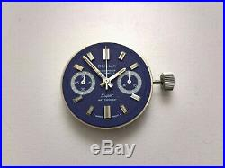 Chronograph Landeron Cal. 248 Watch Movement + Dial + Hands +crown For Parts