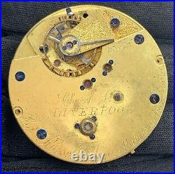 Church St Liverpool hand manual vintage 47 mm pocket watch NO Funciona for parts
