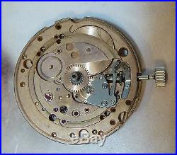 Constellation Chronometer 751 Omega Movement w Crown, No Dial or Hands, Running