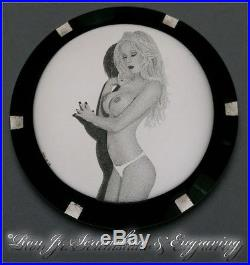 Custom Hand Engraved Case Back Seiko SKX007/9 Dial Ron Jr. Scrimshaw & Engraving