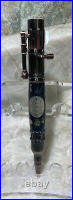 Custom Hand Made Steampunk Bolt Action Watch Parts Black withMulti colo Background