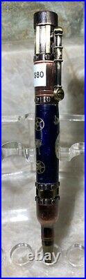 Custom Hand Made Steampunk Bolt Action Watch Parts Dark Blue Background