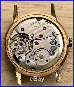 Cyma R. 488.2 8562 Hand Manual 34,5mm NO Funciona For Parts Balance Free Watch