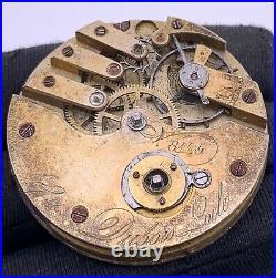 Dubois Locle 8115 Hand Manuale Vintage 44,8 MM No Lavora For Parts Pocket Watch