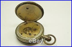 ELGIN 1885 Model 1 18s 7j Hand Engraved Full Hunter Pocket Watch Parts Or Repair