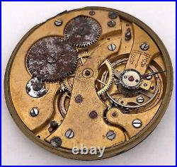 Election Vintage Pocket Watch Hand Manual Winding Tasca For Parts 42 MM 3WC