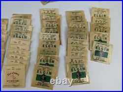 Elgin Watch Parts Cabinet mainsprings hands gears pocket NOS vintage