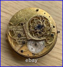 Ellicot London Hand Manual 39,5 mm Doesn'T Works For Parts Pocket Watch