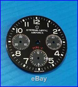 Eterna matic 841141 parts hands + dial airforce type C, black