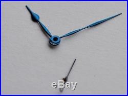 Flame blued steel Big Marine hands for ETA Unitas 6498 6497