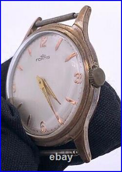 Fortis Kal. 44 Hand Manuell Vintage 33,4 MM Nicht Funktionstüchtig Für Parts