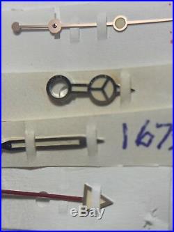 GENUINE ROLEX GMT-MASTER 16750,16760 VINTAGE TRITIUM HANDS Luminous Cream Light