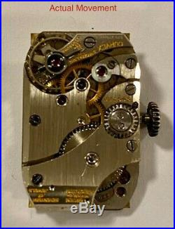 GRUEN Curvex Hand Wind mechanical + Spare Movement for Parts