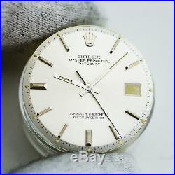 Gen Rolex DateJust Silver Dial Hands Pie Pan Non Quickset Slow Set 1601