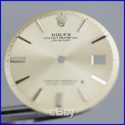 Gen VINTAGE Rolex DateJust Silver Dial Hands Pie Pan Non Quickset Slow Set 1601
