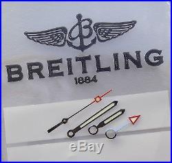 Genuine Breitling A32350 Colt Gmt Hands Set Silver Eta 2893-2 (mint & Original)