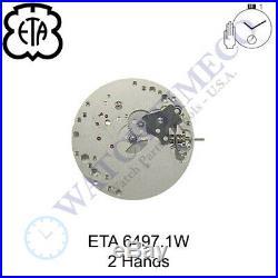 Genuine ETA 6497-1W Watch Movement Swiss 2 Hands