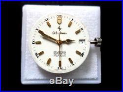 Genuine Eta 25j 2824-2 Swiss Beautiful G. S. Time Dial, Hands, Stem, Crown