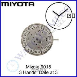 Genuine Miyota 9015 Movement Japan 3 Hands, Date at 3