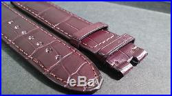 Genuine Montblanc Brown alligator, 22/20mm, Regular, hand-stitched, lightly pad