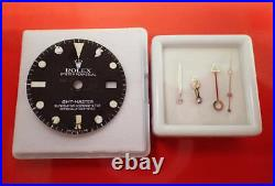 Genuine ROLEX GMT 1675 Datejust Tritium Dial with Hands Set Watch Parts Men's