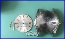 Genuine Rolex 1500 1505 Gold Stainless Steel Case, Dial, Hands, Crown Stem