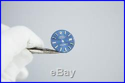 Genuine Rolex Blue Two Tone Dial + Hands Ladies 26mm Datejust 69173 Watch Face