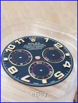 Genuine Rolex Daytona BLUE RACING Dial With Hands! 116518 116528 R A R E