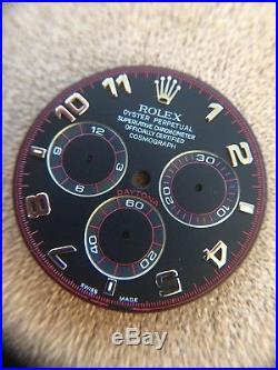 Genuine Rolex Daytona Black Racing Dial + Red Hands Set 116519 116509 116520