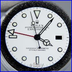 Genuine Rolex Explorer II White Luminova Dial & Hands 16570 16550 3185 GMT Polar
