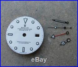 Genuine Rolex Explorer II White Luminova Dial + Hands 16570 16550 Zifferblatt