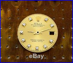Genuine Rolex Ladies Datejust Factory Diamond Dial and Hands