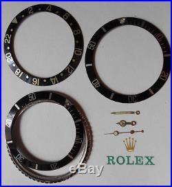 Genuine Rolex Submariner OEM 5512/13 7016 GMT 16753 Hands-Bezels & Inserts (3X)