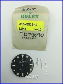 Genuine Service Dial And Hands Submariner 5513 Luminova