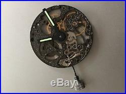 Genuine Unitas 6497 (ETA) Swiss made watch movement 17 jewels 2 hands skeleton