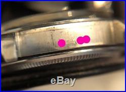 Genuine Vintage Rolex 1500 Case, Caseback, Bezel, Crystal, Dial & Hands