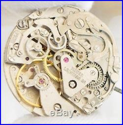 HEUER 7734 Vintage chronograph watch movement with dial & hands