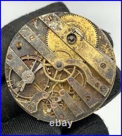 H. Delolme London Hand Manuale Vintage 40,7 MM No Lavora For Parts Pocket Watch