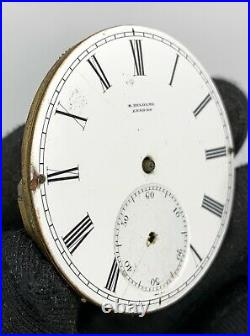 H. Delolme London hand manual vintage 40,7 mm NO Funciona for parts pocket watch