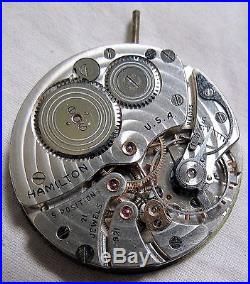 Hamilton 921 21 Jewel Pocket Watch Movement withFace&Hands Vtg Old Antique As-Is