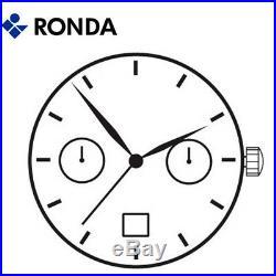 Harley Ronda 4120. B Quartz Watch Movement, 2 Hands D6 (Swiss Parts & Swiss Made)