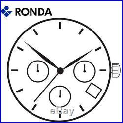 Harley Ronda 5130. D Quartz Watch Movement, 3 Hands D4 (Swiss Parts & Swiss Made)