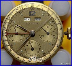Haste Leonidas Dial Hands Crown On A Valjoux Chronograph 72C for Parts