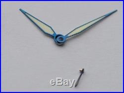 Heat blued steel hands for ETA Unitas 6498 6497 Big Pilot Aviator Flieger