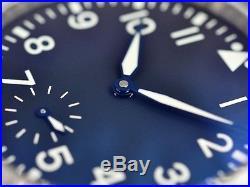 Heat blued steel hands for ETA Unitas 6498 6497 Big Pilot Aviator Fliegeruhr