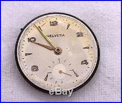 Helvetia Maschine Cyma Hand Manuell 29,3 MM Nicht Paßt Für Parts Uhren Vintage