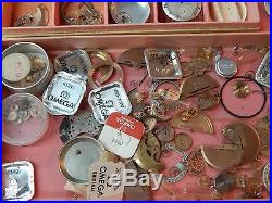 Huge lot of Omega assorted watch parts, hands, movements etc