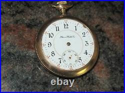 Illinois Watch Co. Grade 185, 16s, 17j Parts/As Is (missing Crystal/hands)