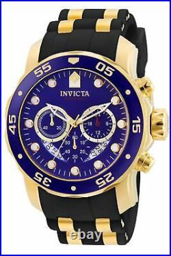 Invicta Men's Pro Diver 6983 Gold Rubber Swiss Parts Chronograph Fashion Watch