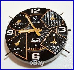Jacob & Co 5 Time Zones Men's Watch PartsDial, Hands & MovementsWorkingParts